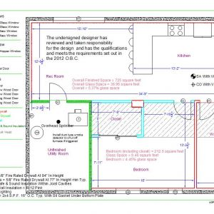 Basement Apartment Permit Drawing