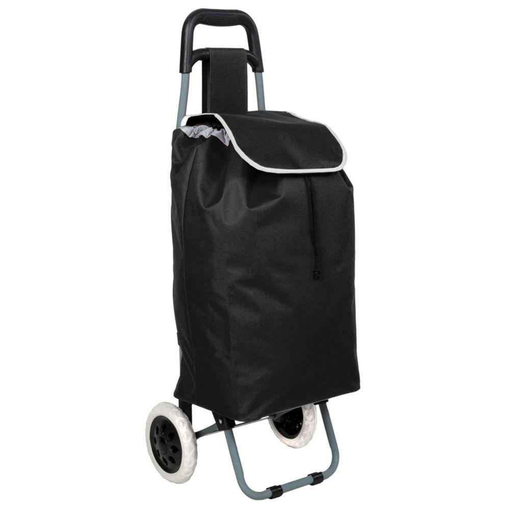 details sur chariot de course cabas a roulettes scooter panier d achat depliable noir