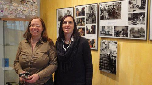 Ulla Wacker und Anett Lentwojt im neuen BRN-Museum
