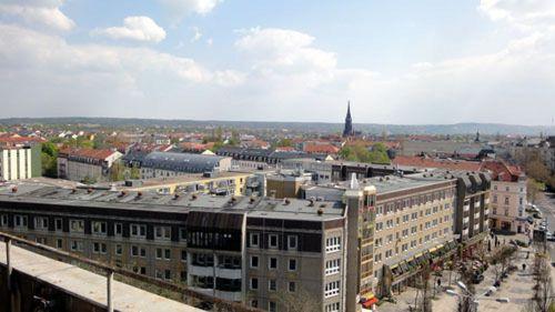 Der Blick über die Neustadt ist fantastisch.