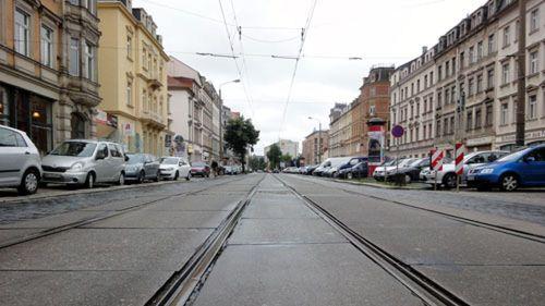 Königsbrücker Straße im Sommer 2011 - Anklicken, um das Bild zu vergrößern.