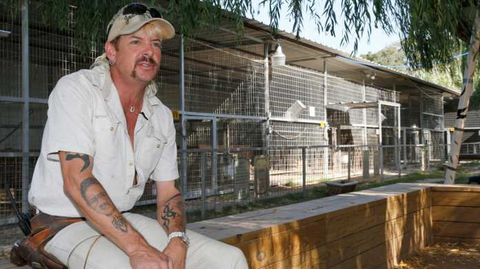 Joe Exotic tried to have his arch rival Carole Baskin murdered by a contract killer.  He is currently serving a 22 year prison sentence