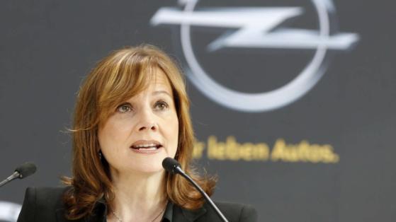 GM-Chefin Mary Barra (52) während ihrem Besuch der deutschen Opel-Produktionsstätte in Rüsselsheim zu Beginn des Jahres