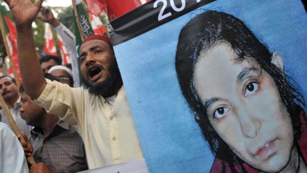 Pakistanische Aktivisten fordern auf einer Demo im Februar 2010 die Freilassung der Wissenschaftlerin Aafia Siddiqui