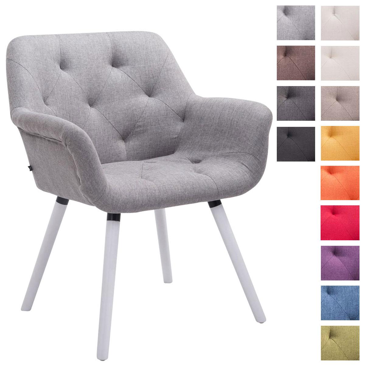 details sur chaise salle a manger cassidy tissu pieds bois de hetre blanc design scandinave