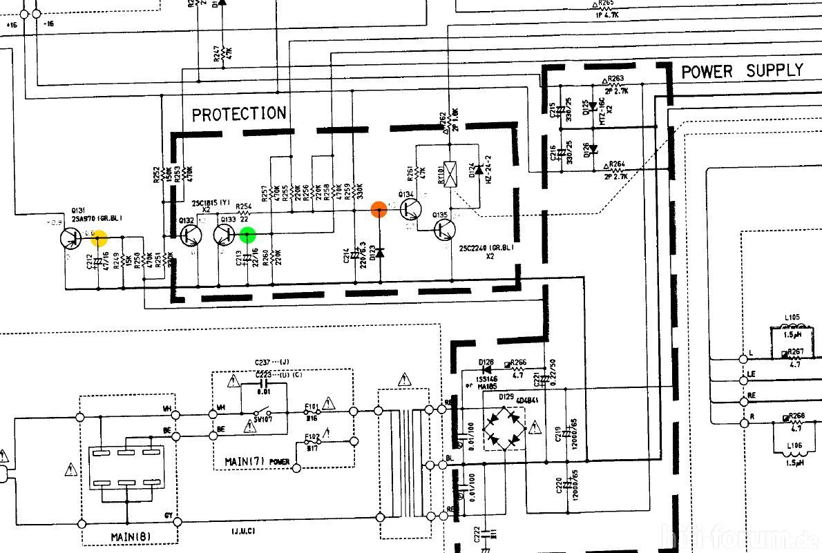Yamaha Ax 500 Schematic Detail Protection Circuit With