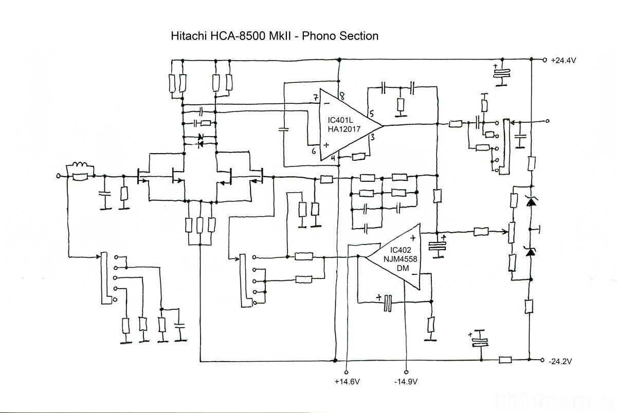 Hitachi Hca Mkii Schematic Phono Section Midres