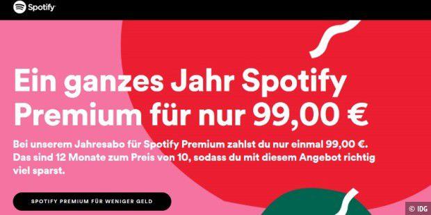 Spotify Premium 365 Tage Abo Zum Sparpreis Erhaltlich Pc Welt
