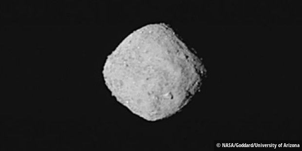 Smile: Bennu registration on October 29, 2018 - the recording was made by combining eight photos of NASA's Osiris-Rex asteroid probe.
