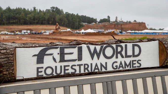 One day before the start of the World Championships in eight equestrian disciplines, the competition site in Tryon still resembled a construction site