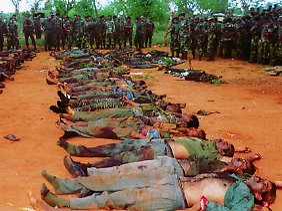 Die Zahl der Todesopfer während des Krieges wird auf 100.000 geschätzt.