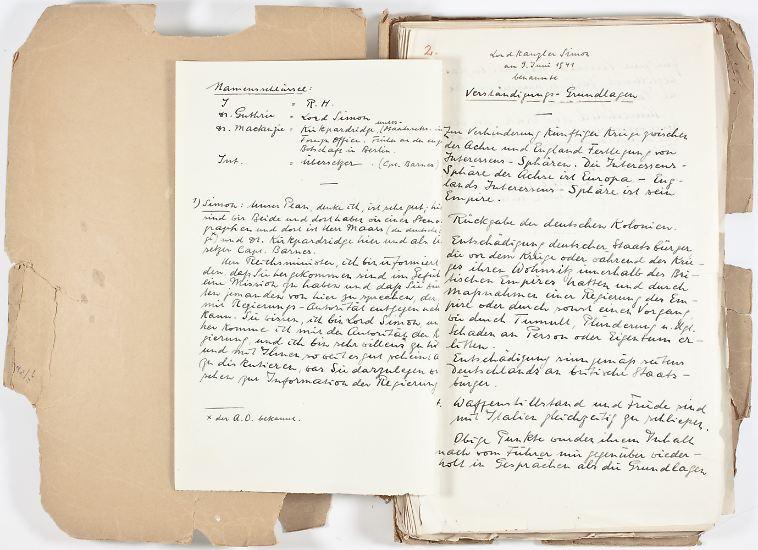 """Der unbekannte Anbieter will die Akte """"aus anonymer Quelle"""" erhalten haben. Ob die Dokumente mehr Licht bringen in die dubiose Geschichte von Rudolf Heß?"""