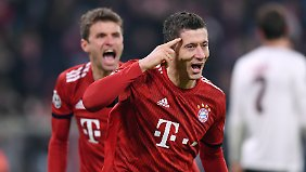 Lewandowski sees Bayern in an upward trend.