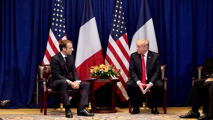 Emmanuel Macron and Donald Trump on September 24th 2018 in New York.