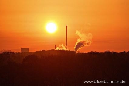 Sonnenaufgang im Ruhrgebiet