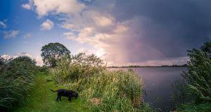 Otto am See mit Regenbogen