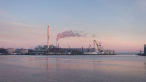 Blick auf die Flensburger Werft