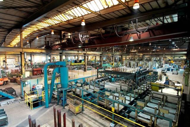Bild från färdigställningen på Söderfors Steel som ligger bredvid  den avdelning där Ari Ekholm skadade sig. Arkivbild.
