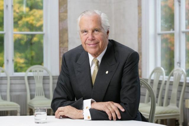Anders Wall, 89 år och bosatt i Heby, är en svensk finansman och entreprenör som har donerat stora summor till stipendier och forskning om bland annat entreprenörskap.  Foto: Peter Phillips