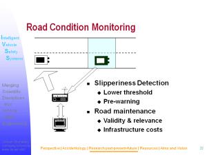 Powerpointbild från presentationer i USA av svenskt bilsäkerhetsutveckling.