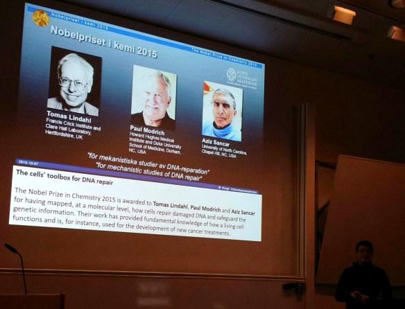 Docent Anki Brorsson föreläser vid LiU 151209 om Nobelpriset i kemi.