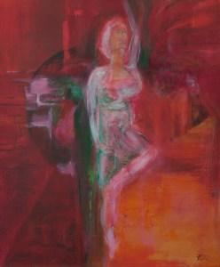Tänzerin - acryl, portrait