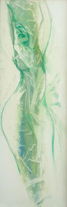 Wasserfrau - acryl, phantasie