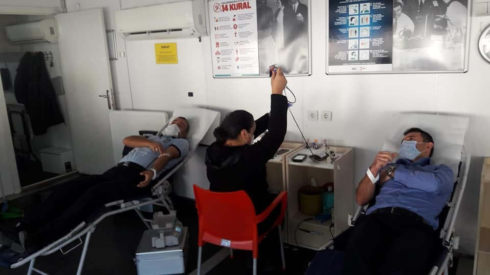 Zabıta memurlarından kan bağışına destek