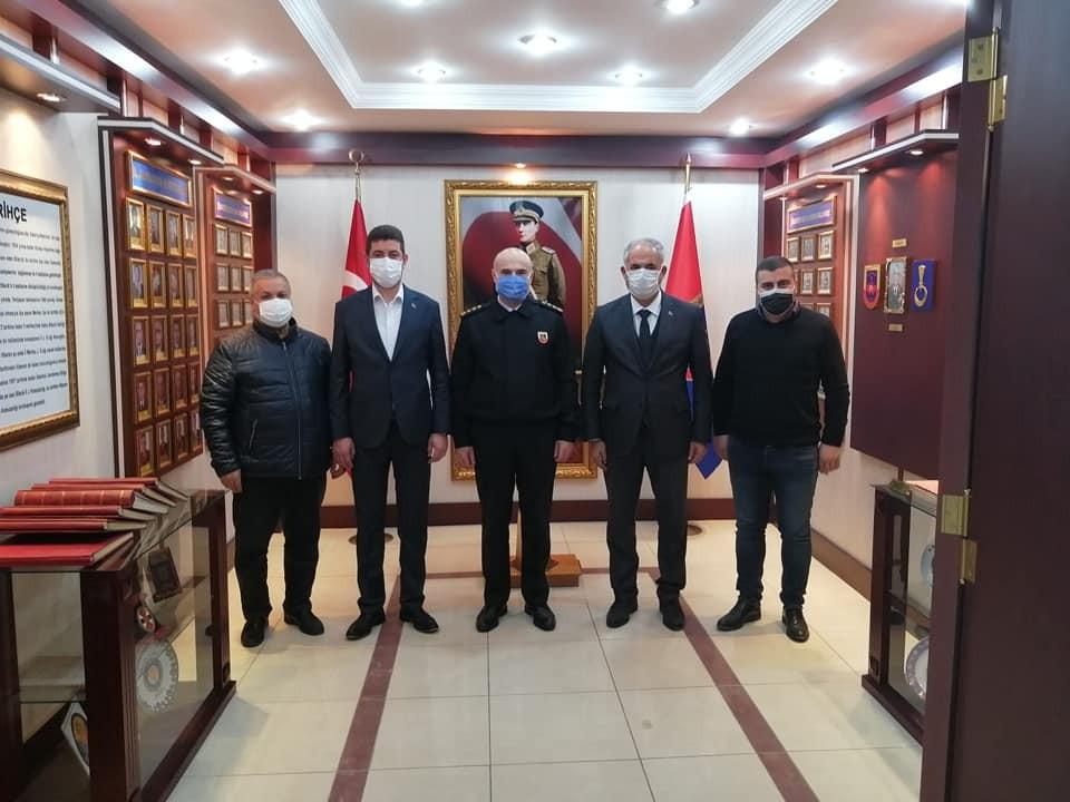 Başkan Yaman'dan İl Jandarma Komutanı Sandal'a ziyaret