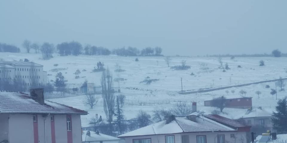 Bozüyük kar altında