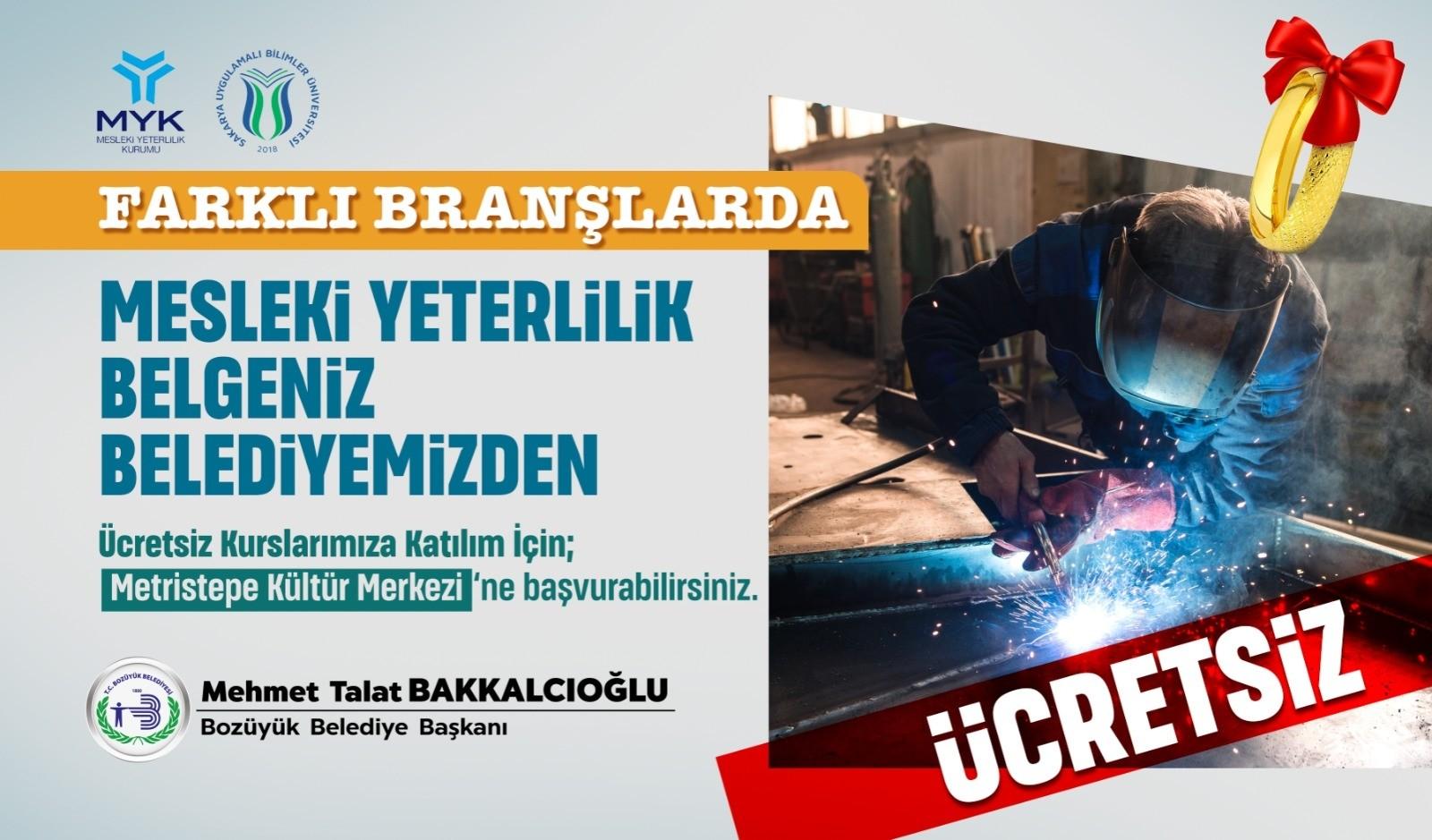 Bozüyük Belediyesi ücretsiz MYK başvuruları devam ediyor