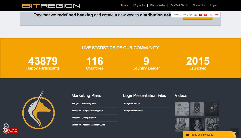 本物のbitregionのサイト
