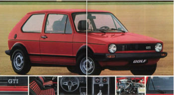 Golf I GTi (billede fra original brochure)