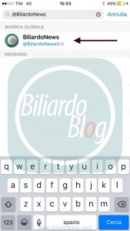 Biliardo News: ricerca
