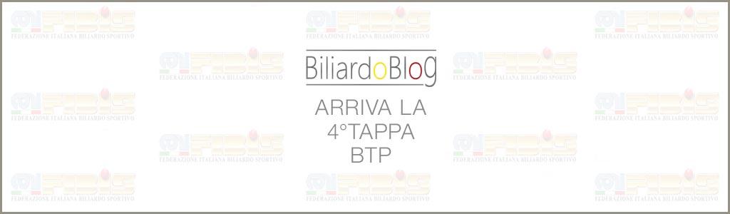 Verso la Quarta Tappa BTP di Biliardo 2017