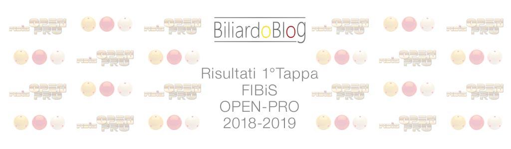 Risultati Prima Tappa FIBiS OPEN PRO 2018 2019