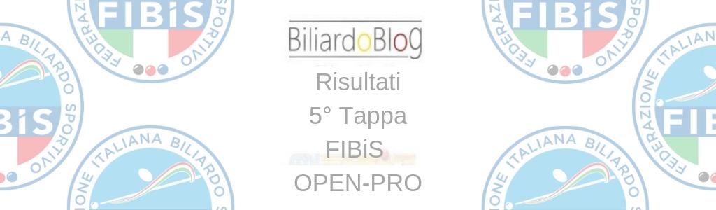Risultati Quinta Tappa FIBiS OPEN PRO 2018 2019
