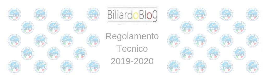 Regolamento Tecnico Campionato Biliardo 2019 2020