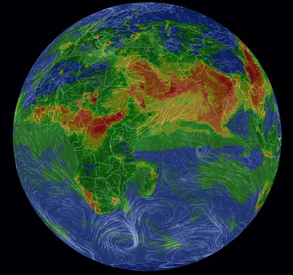 Air Visual Earth - Hava Kirliliği Haritası