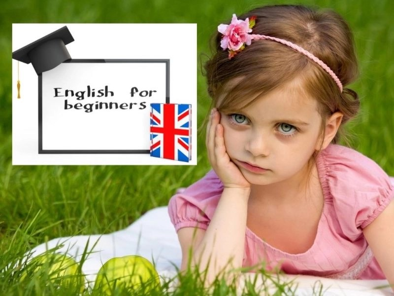 English for beginners and a little girl