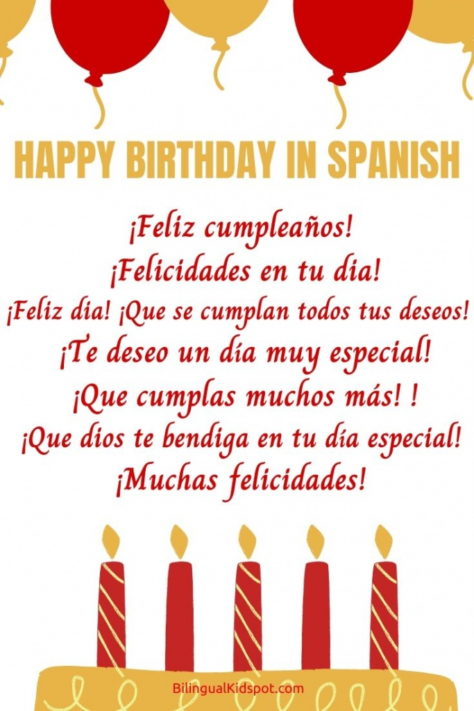 Happy Birthday Songs In Spanish Different Ways To Say Happy Birthday