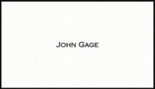 John Gage's business card  (Indecent Proposal)