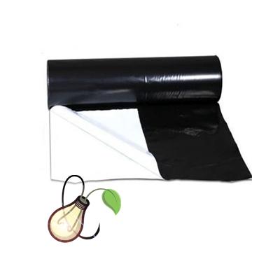 1m x 2m Black & White 125 Micron Plastic Sheeting