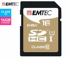 EMTEC SDHC Class 10 Gold+ 16GB SD Card