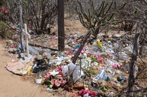 Silk flower cemetery