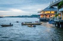Setting Sun on the Brunei River