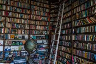 library-books-ladder-globe-nicosia-cyprus