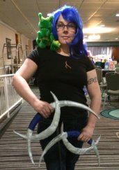 I couldn't pass on getting a picture of this cosplay of Karou from Laini Taylor's novel Daughter of Smoke and Bone.