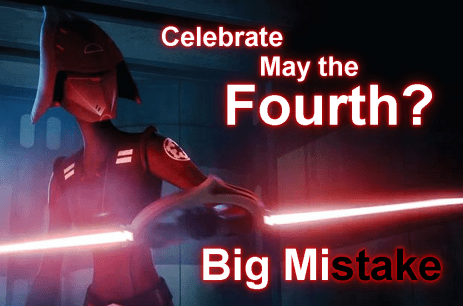 Never invite Seventh Sister to a May the Fourth party. It's a big mi-stake.