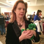 """My wife went dressed as the """"Big Bad"""" from my second novel, GIDION'S BLOOD."""